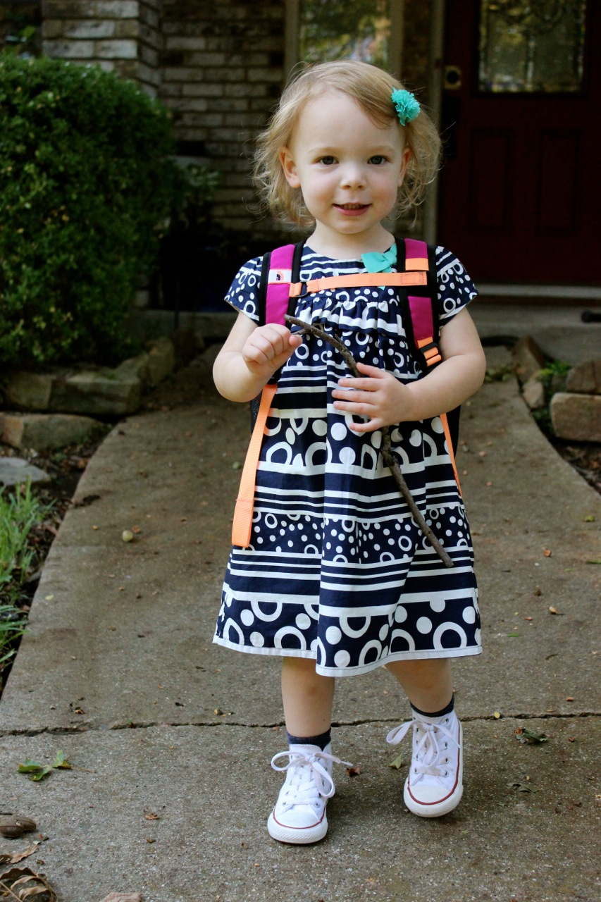 Sept 2014 Olivia's First Day of School